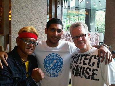 Amir Khan, Freddie Roach ©Team Khan.