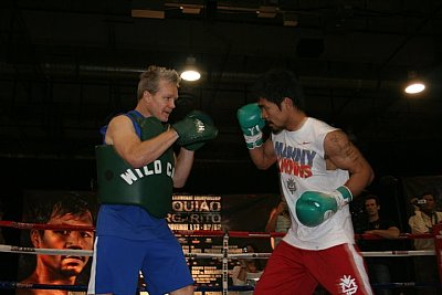 Freddie Roach, Manny Pacquiao Paddy Cronan.