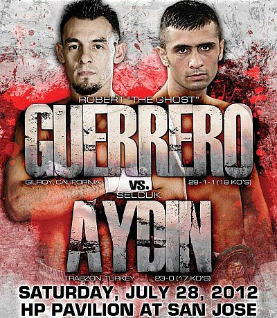 Robert Guerrero, Selcuk Aydin ©Golden Boy Promotions/ARENA.