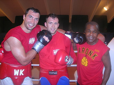 Wladimir Klitschko, Michael Sweeney, Emanuel Steward ©Michael Sweeney