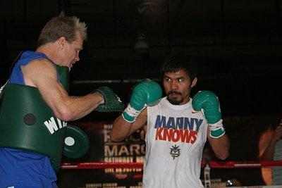 Freddie Roach, Manny Pacquiao ©Paddy Cronan.