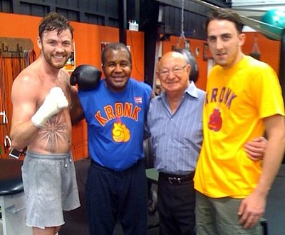 Andy Lee, Emanuel Steward, Angelo Dundee ©Team Lee.