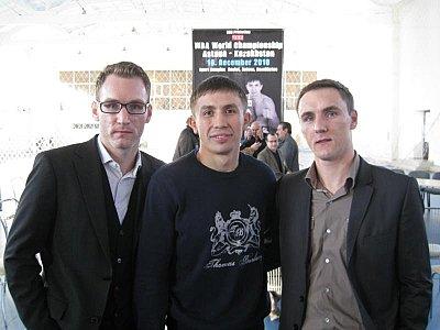 Maximilian Hermann, Gennady Golovkin, Oleg Hermann ©GGG-Boxing.