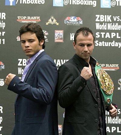Sebastian Zbik, Julio Cesar Chavez Jr.  ©Universum Box-Promotion.