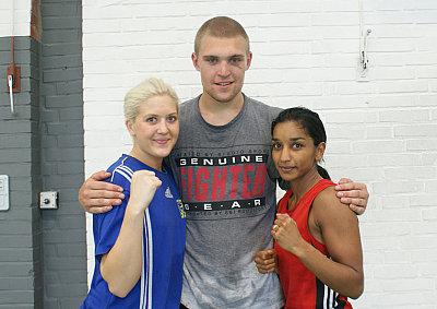 Klara Svensson, Robin Hakansson, Shipra Engelke  ©EC Boxpromotion.