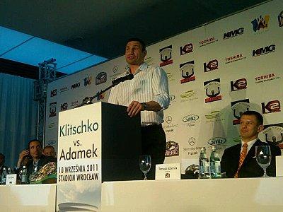 Vitali Klitschko, Tomasz Adamek ©KMG.