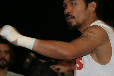 Manny Pacquiao ©Paddy Cronan / ONTHEGRiNDBOXiNG.