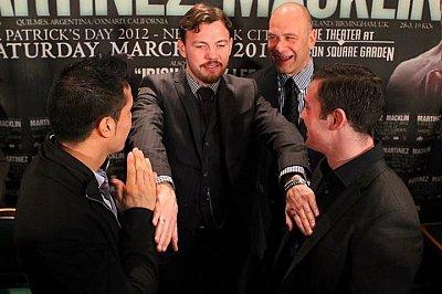 Sergio Martinez, Andy Lee, Matthew Macklin ©Brian Peters Promotions.
