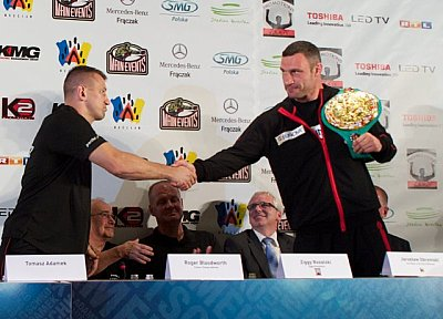 Tomasz Adamek, Vitali Klitschko ©KMG.