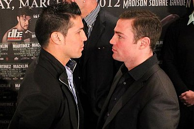 Sergio Martinez, Matthew Macklin ©Brian Peters Promotions.