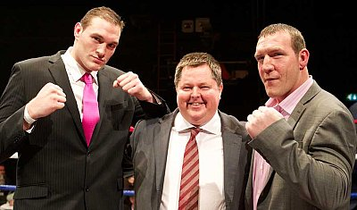 Tyson Fury, Mick Hennessy, Martin Rogan ©Hennessy Sports.