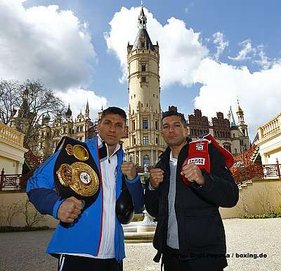 Karoly Balzsay, Dimitri Sartison ©Eroll Popova / boxing.de.