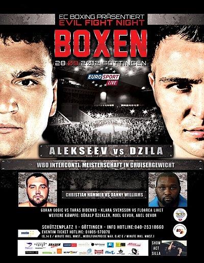 Alekseev vs. Dzila ©EC Boxpromotion.