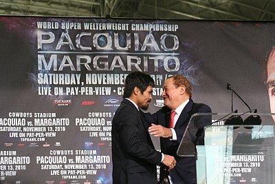 Manny Pacquiao, Bob Arum ©Paddy Cronan/ONTHEGRiND BOXiNG.