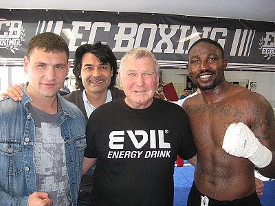 Alexander Alekseev, Erol Ceylan, Fritz Sundek, Ola Afolabi ©EC Boxpromotion.