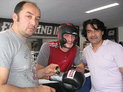 Bülent Baser, Igor Mikhalkin, Erol Ceylan ©EC Boxpromotion.