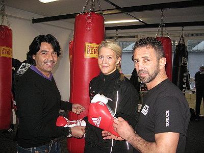 Erol Ceylan, Klara Svensson, Oktay Urkal ©EC Boxpromotion.