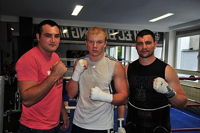 Christian Hammer, Dmytro Kucher, Alexander Alekseev ©EC Boxpromotion.
