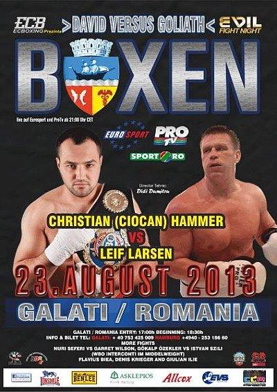 Hammer vs. Larsen ©EC Boxpromotion.