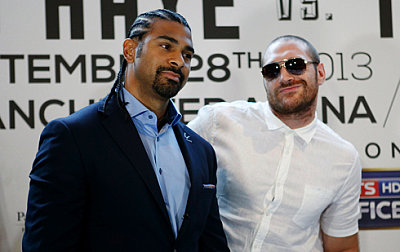 David Haye, Tyson Fury ©Hennessy Sports.