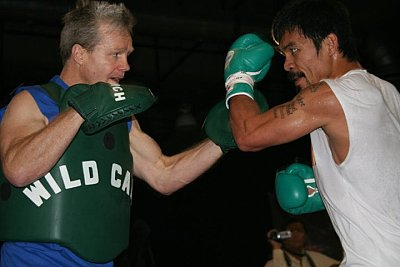 Freddie Roach, Manny Pacquiao ©Paddy Cronan/ONTHEGRiND BOXiNG.