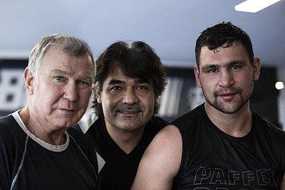 Fritz Sdunek, Erol Ceylan, Alexander Alekseev ©EC Boxpromotion.