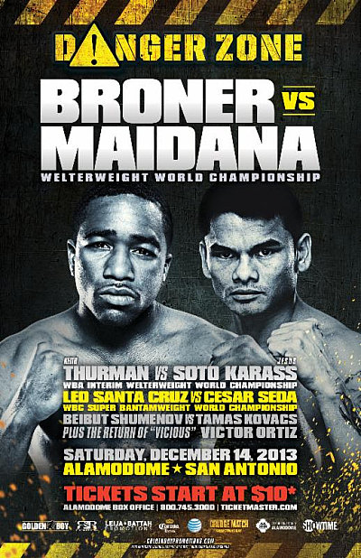 Broner vs. Maidana ©Golden Boy Promotions.