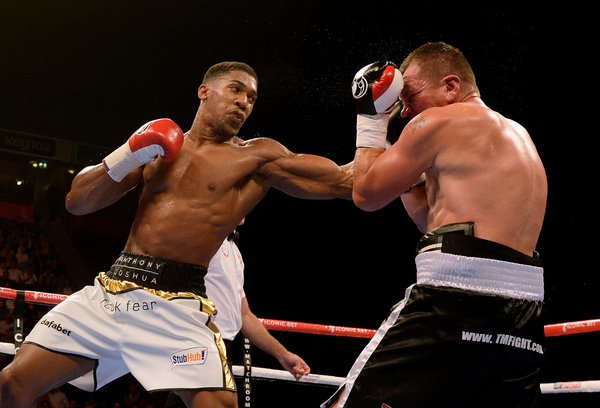 Boxing - Heavyweight Bout - Anthony Joshua v Konstantin Airich - Manchester Arena
