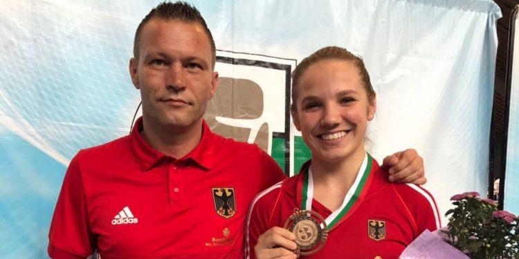 Foto BC Traktor Schwerin_Trainer Andy Schiemann und Sophie Alisch