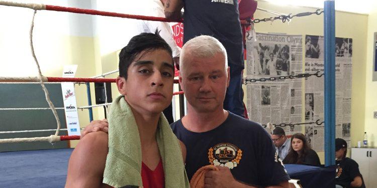 Farschad Nabizadeh mit Coach Dieter Berg