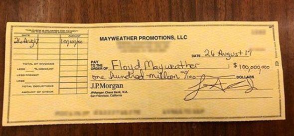 Mayweather 100 Mio