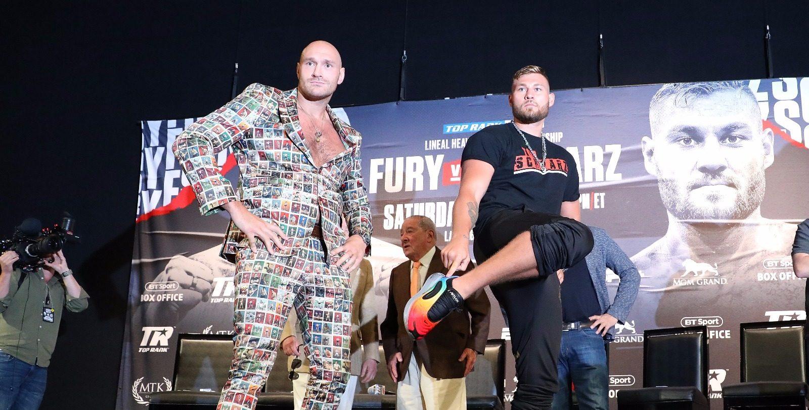 Tyson Fury besiegt Tom Schwarz in zweiter Runde mit blutigem K.o